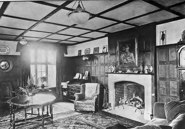 Sitting Room at Chaffcombe House c1917